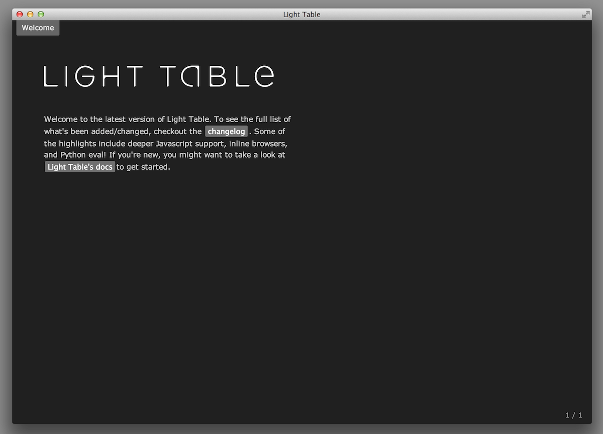 Light Table 0.5.0 - lighter
